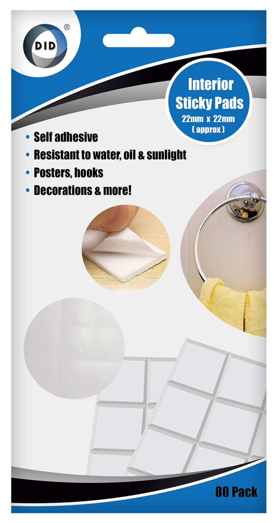 Heavy Duty Double Sided Self Adhesive Interior Sticky Pads