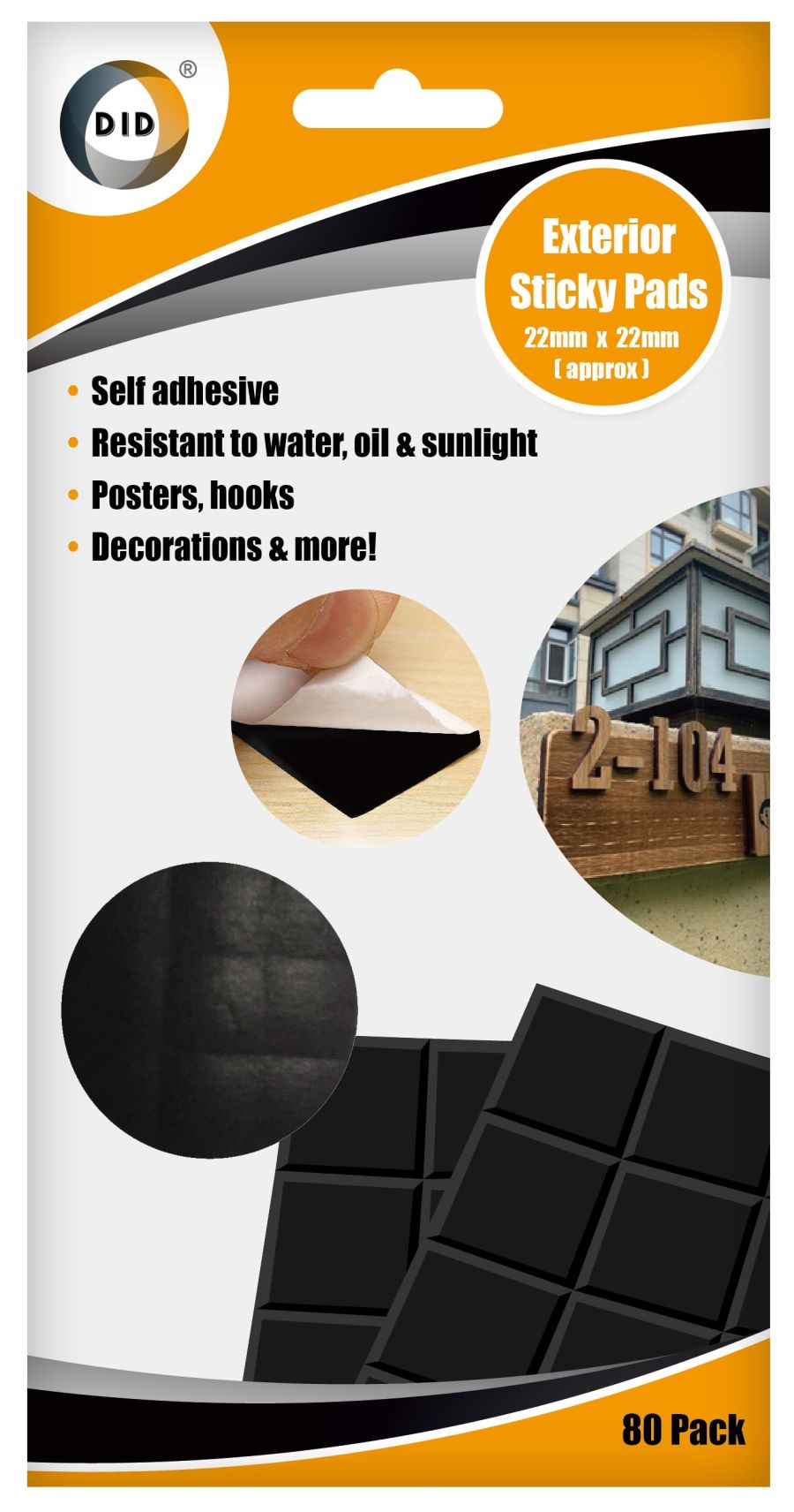 80pc Exterior Sticky Pads