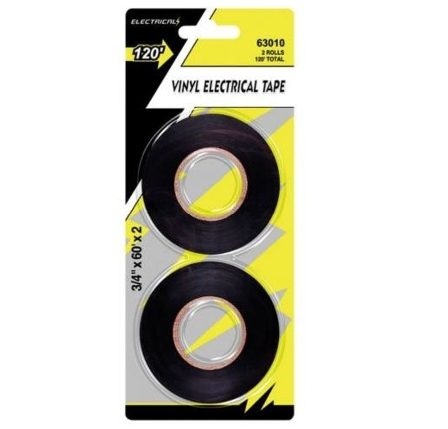 2 Electrical PVC Insulation Black Tape