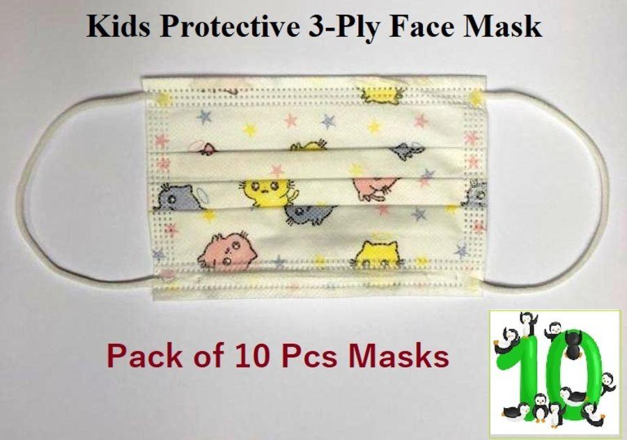 10 Kids Masks (3-Ply)