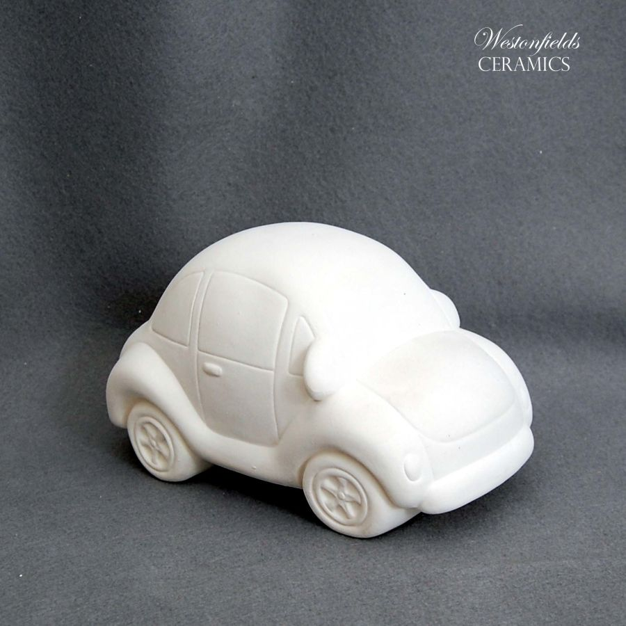 Ceramic Pottery Bisque Biscuit Ware Ready To Paint a Pot Your Own VW Beetle Bug Car