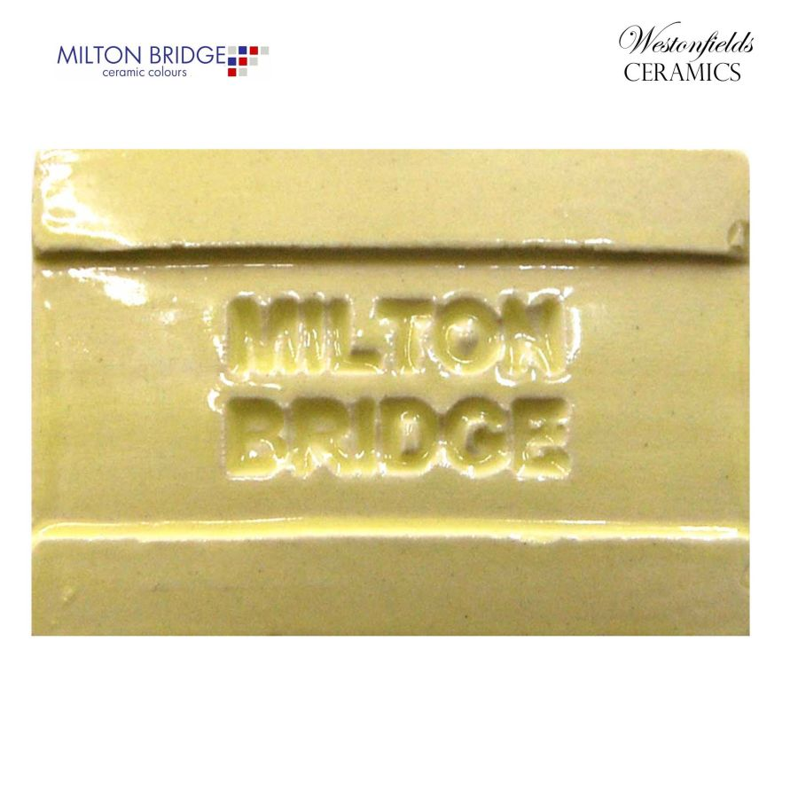 Ceramic Pottery Brush On Glaze Glazes Milton Bridge LEMON YELLOW EARTHENWARE D001 250ml