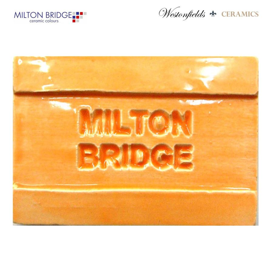 Ceramic Pottery Brush On Glaze Milton Bridge BRIGHT ORANGE EARTHENWARE D007 250ml