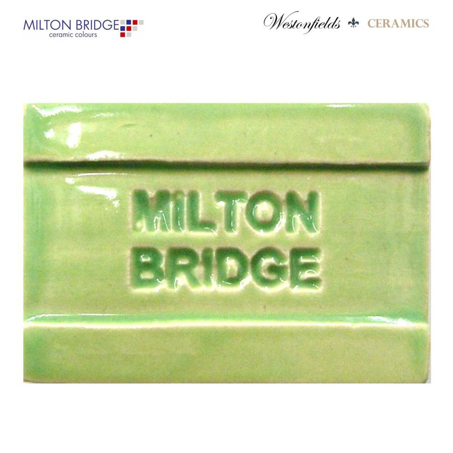 Ceramic Pottery Brush On Glaze Milton Bridge LIME GREEN EARTHENWARE D009 250ml
