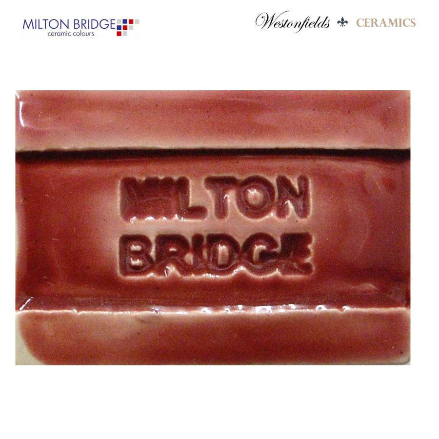 Ceramic Pottery Brush On Glaze Milton Bridge MAROON EARTHENWARE D030 250ml