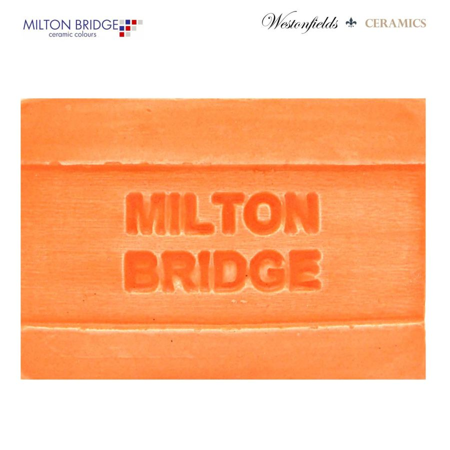 Ceramic Pottery Brush On Glaze Milton Bridge ORANGE CRUSH MATT M011 250ml