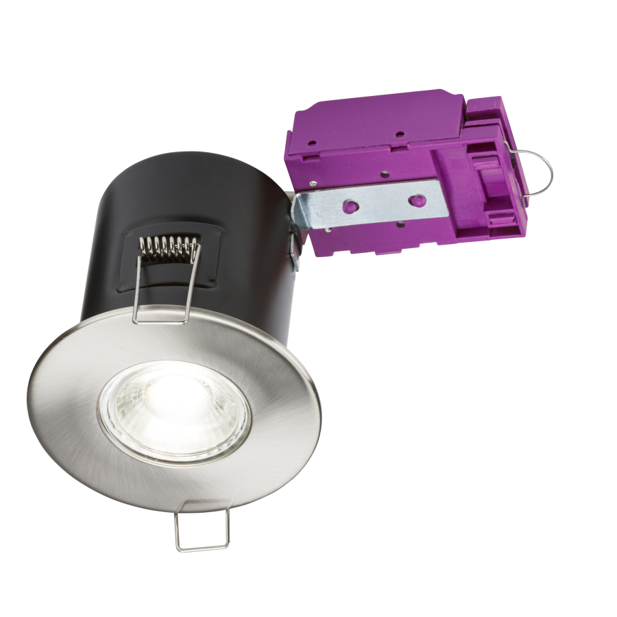 Brushed Chrome Downlight GU10 Fire-Rated