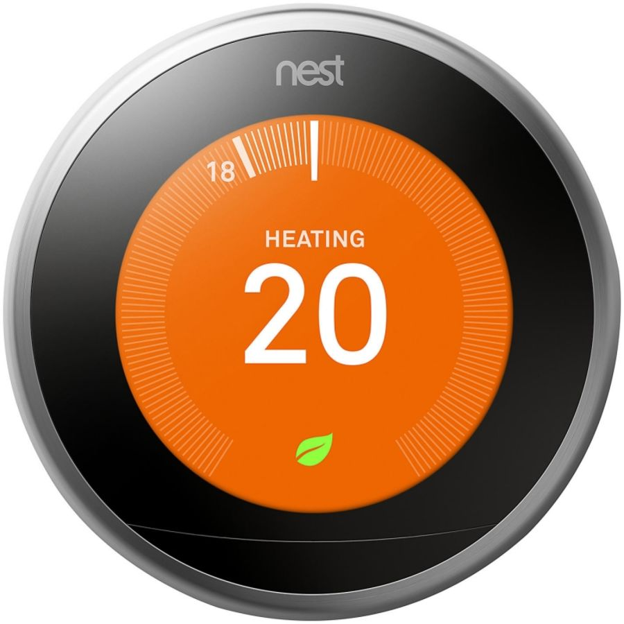 Nest 3rd Gen Learning Thermostat - Stainless Steel