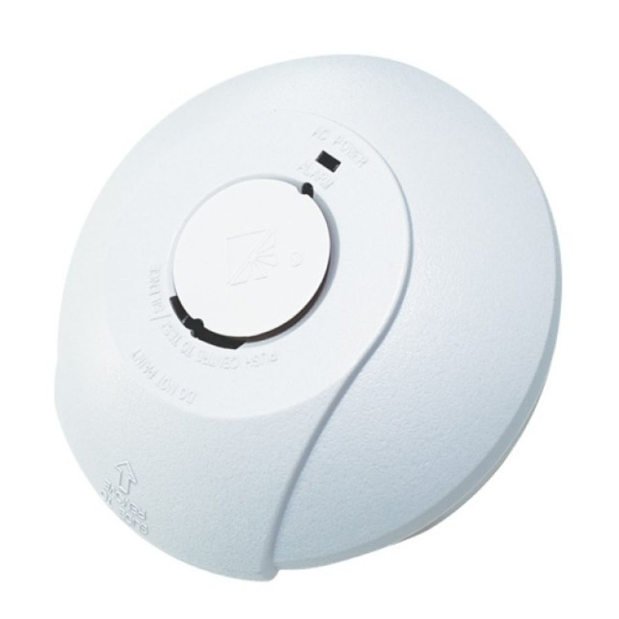 HiSpec Interconnected Photoelectric Smoke Alarm Mains with Battery Backup