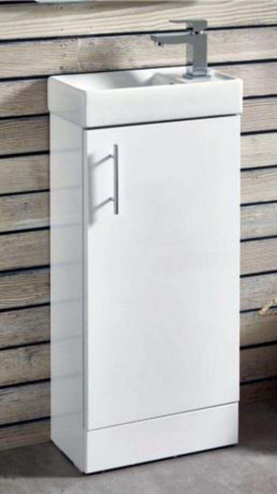 Lanza 400mm Floorstanding Cloakroom Basin & Unit