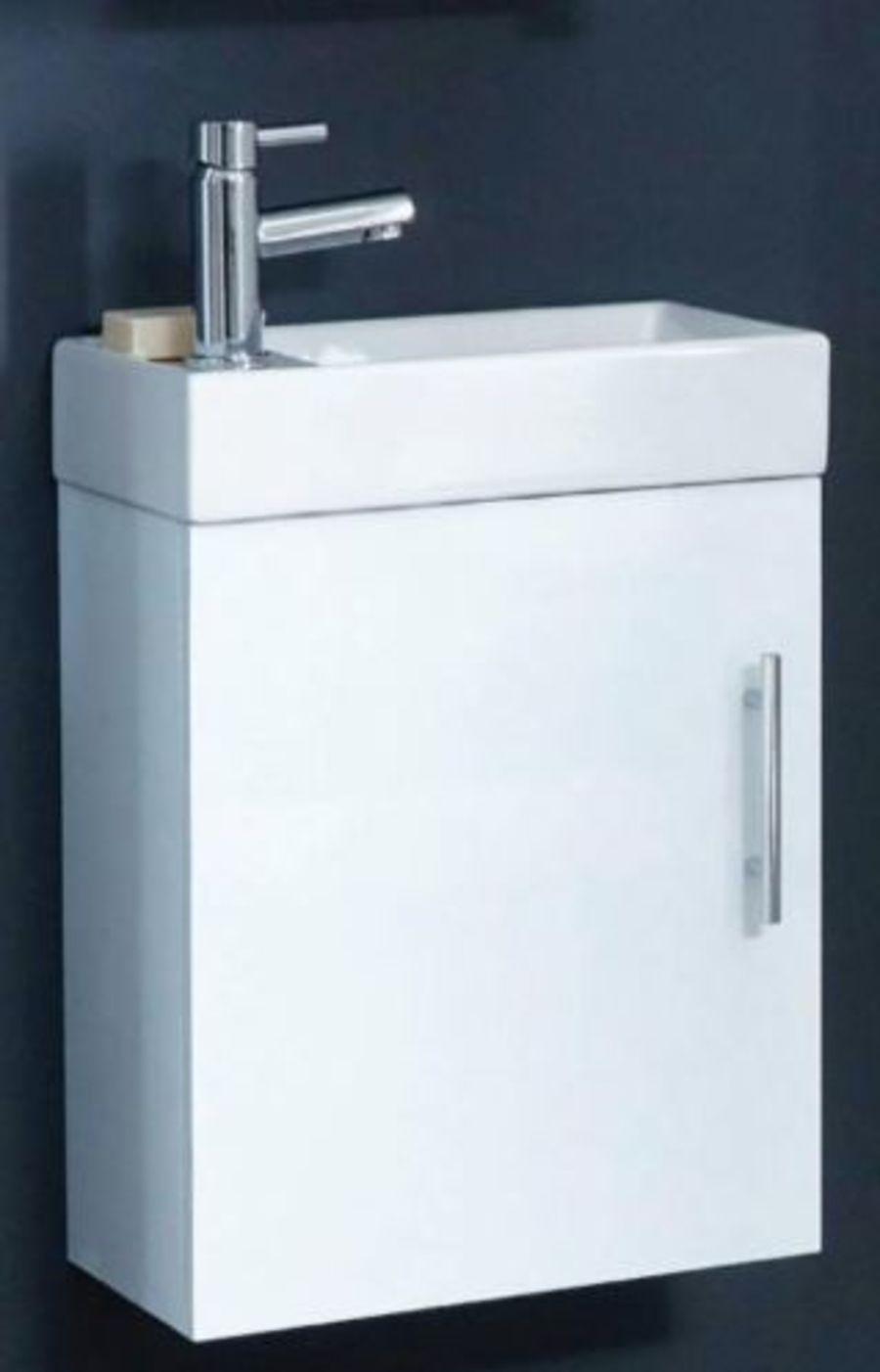 Lanza 400mm Wall Hung Cloakroom Basin & Unit