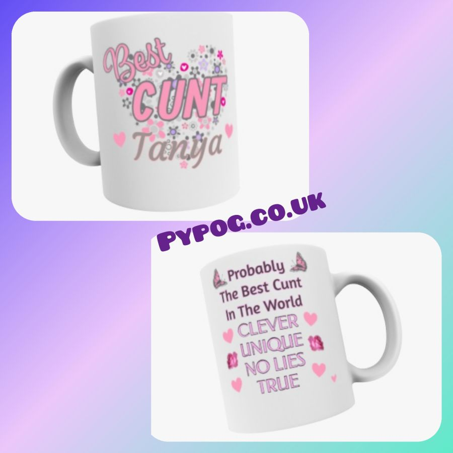 Worlds Best Cunt 11oz Mug personalised gift with name
