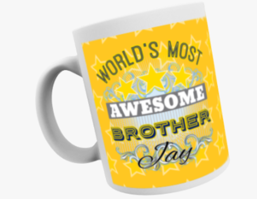Awesome Brother 11oz mug personalised with name