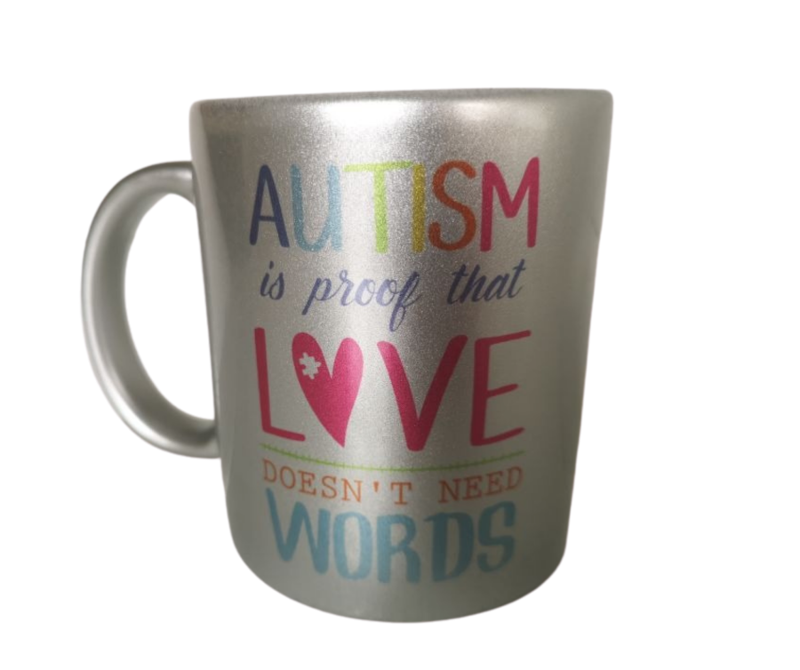 Autism is proof that love needs no words 11oz mug
