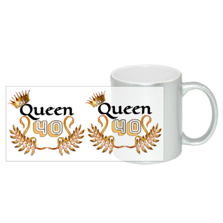 Queen Any Age Birthday Gift Mug 11oz in 2 colours