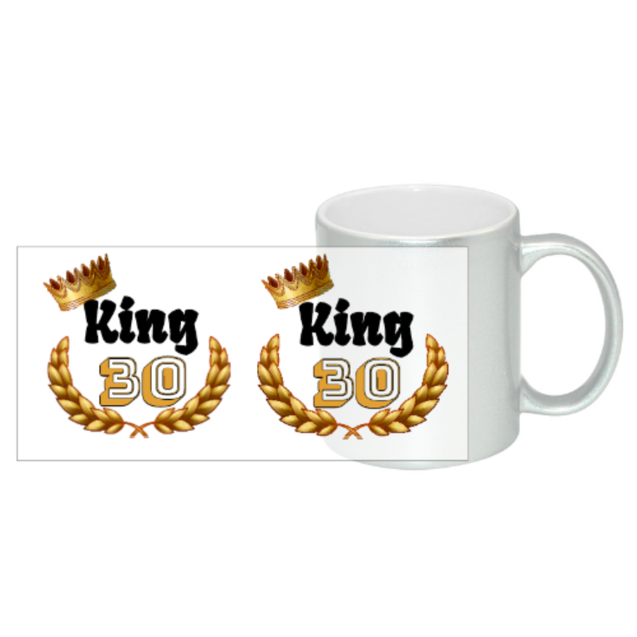 King Birthday For Him Gift Any Age Mug 11oz in 2 colours