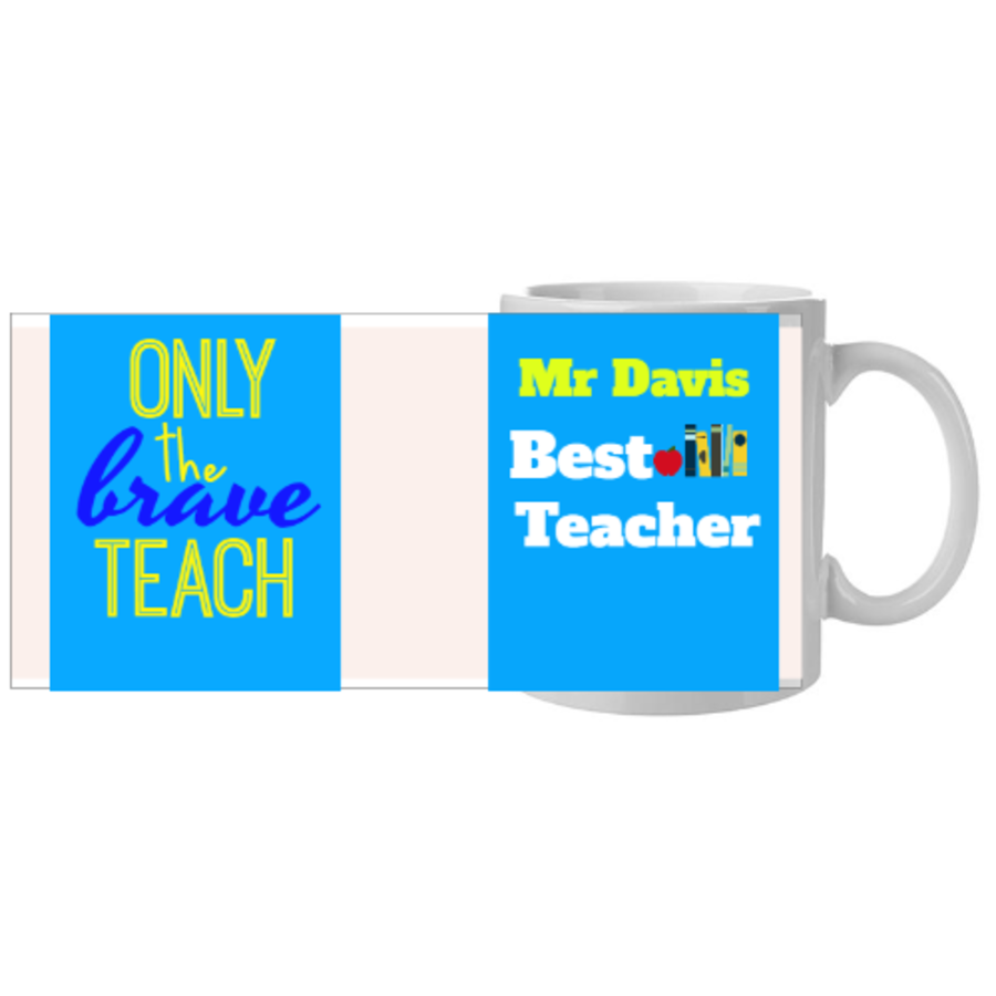 Best Teacher Gift blue 11oz mug available in 2 colours.