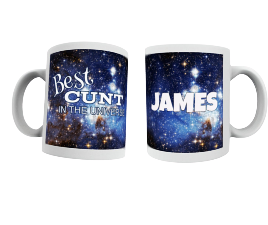 Best Cunt in the universe Mug personalised with name SPACE