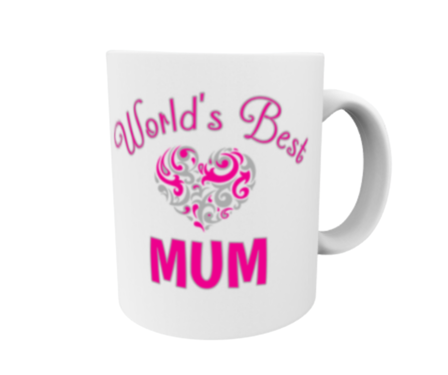 Mother's day gift 11oz mug best mum pink