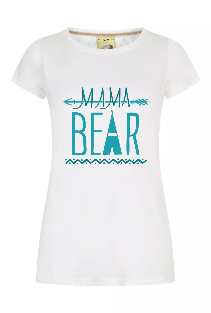 Mama Bear White and Blue Womens t shirt Mothers day Gift