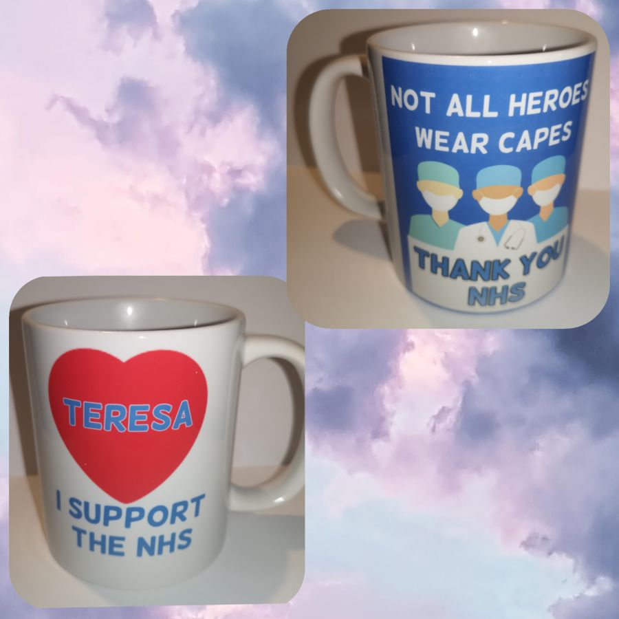 Not all heroes wear capes I support the NHS Personalised mug 11oz mug