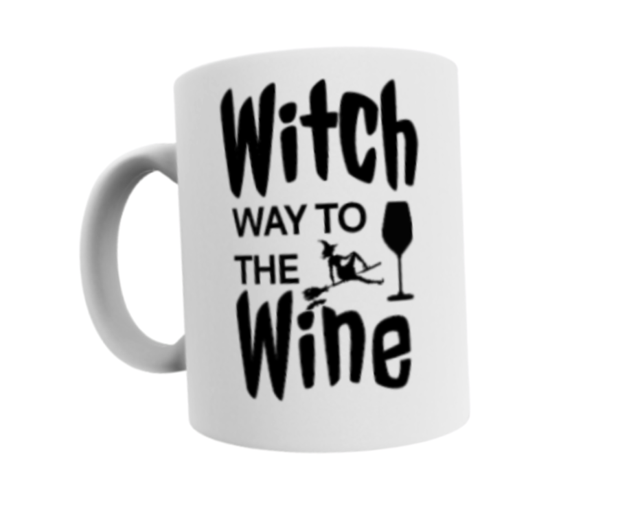 Witch way to the wine 11oz mug