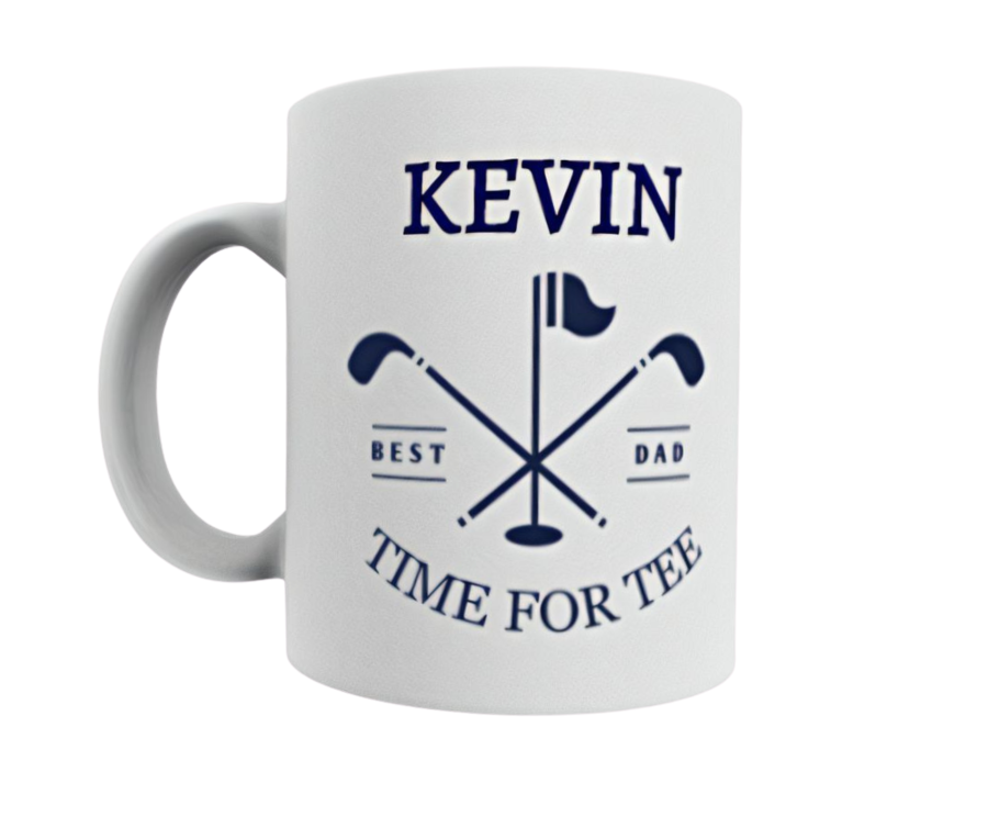 Personalised Fathers day 11oz mug Time for Tee Golf gift