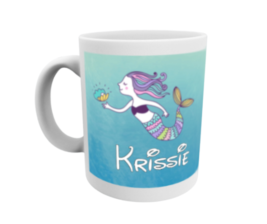 Personalised Mermaid 11oz Mug Variety of designs available open to view
