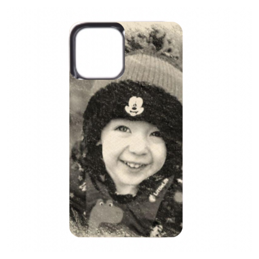 Black Rubber iphone 11 personalised photo phone case