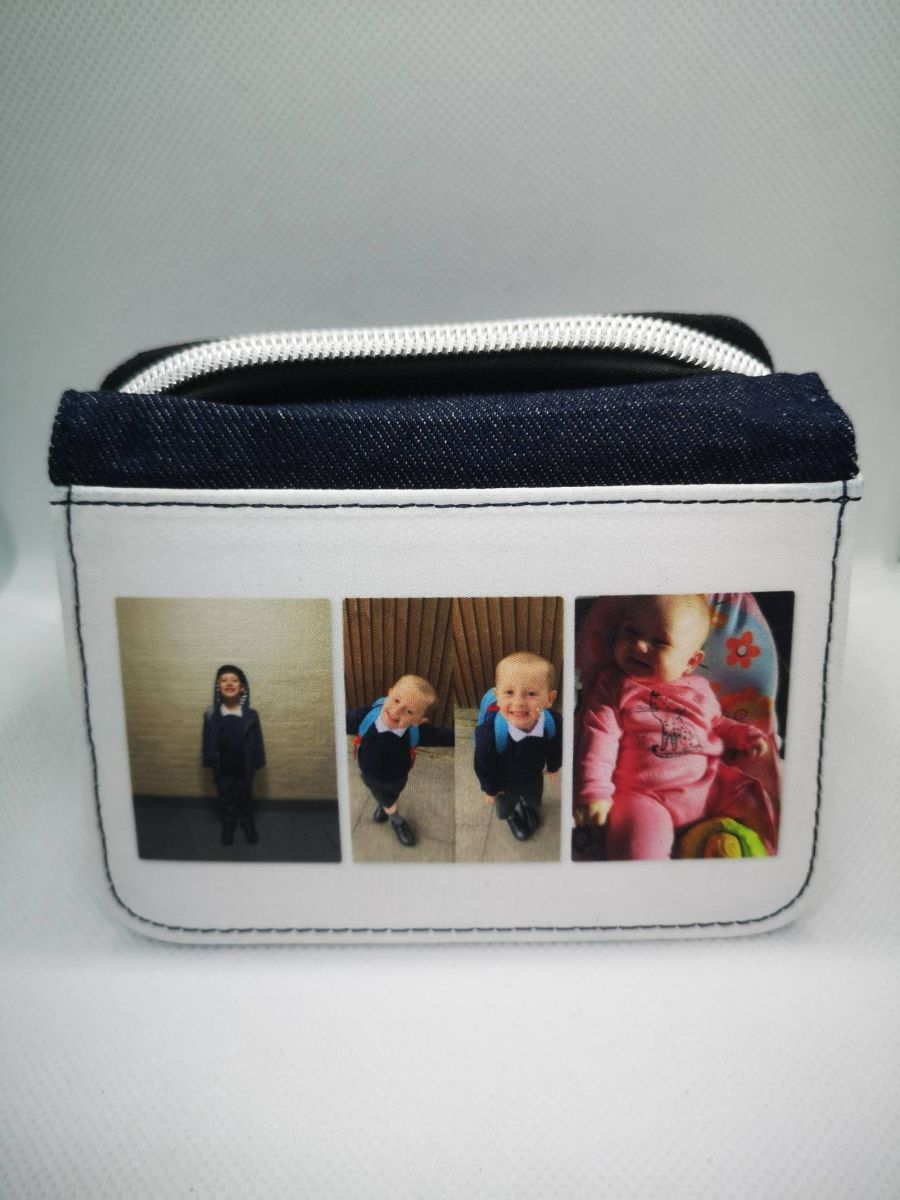 Ladies denim purse with your photo printed on front