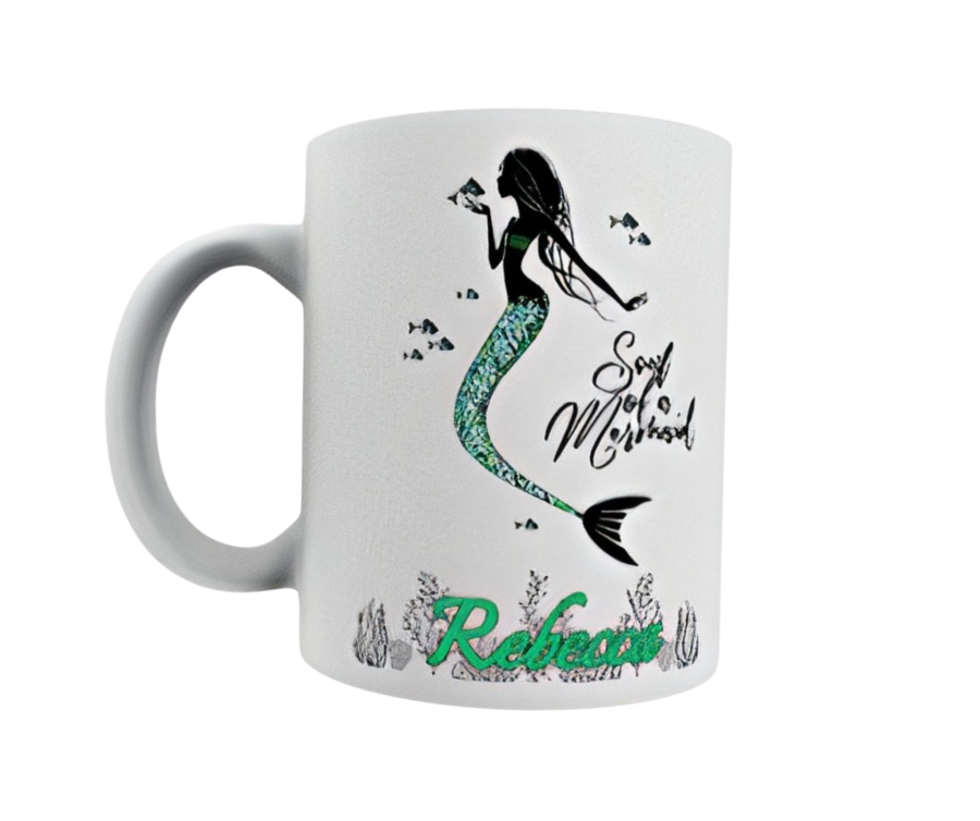 Soul of a mermaid Personalised with any name 11oz ceramic mug