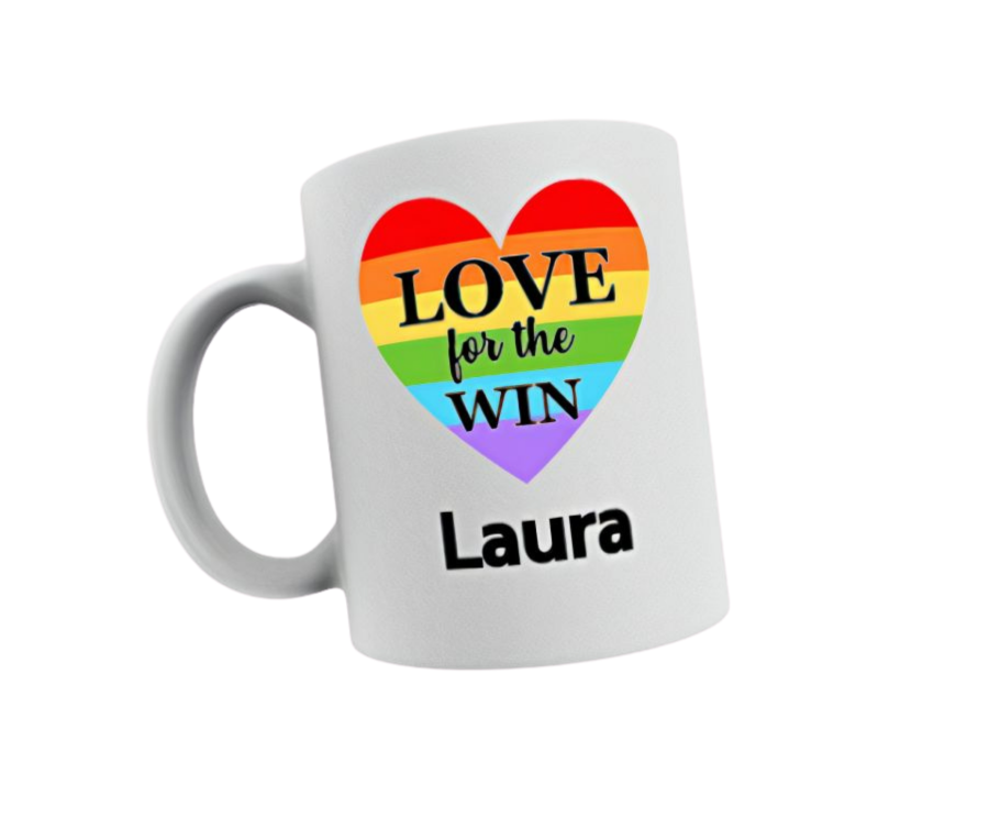 Love for the win personalised 11oz white mug