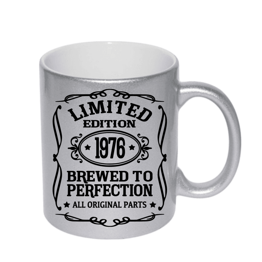 Limited edition Brewed to Perfection Any age Birthday Silver 11oz Mug