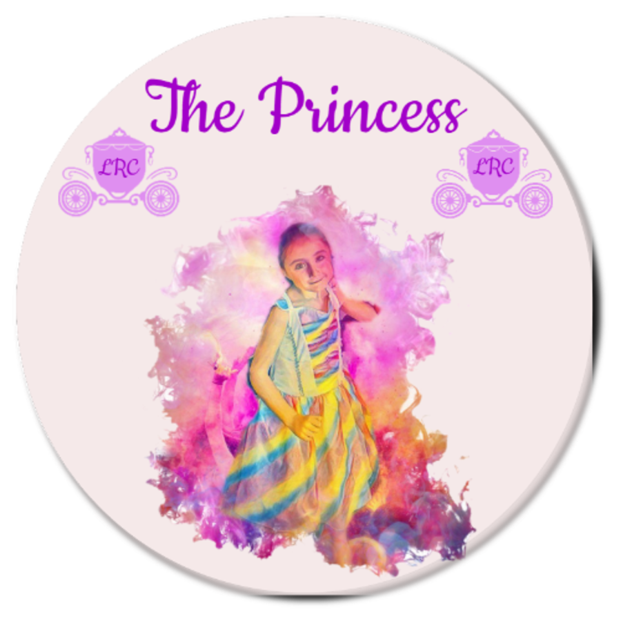 Princess Carriage Photo Gift Personalised Coaster 9cm