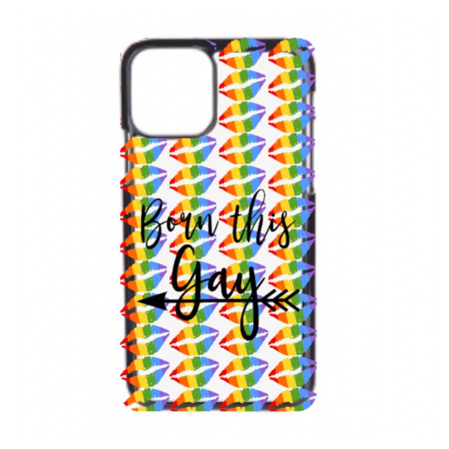 Black Rubber iphone 11 born this gay phonecase cover