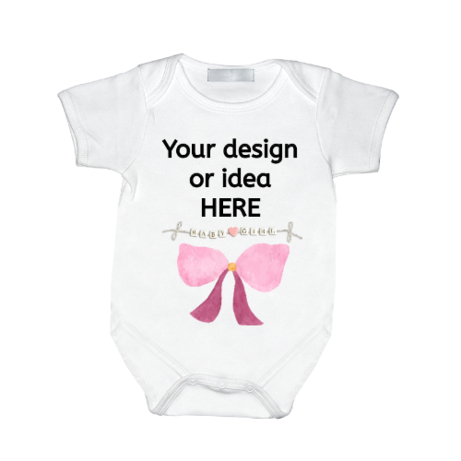 Personalised custom baby vest 0 up to 12 months