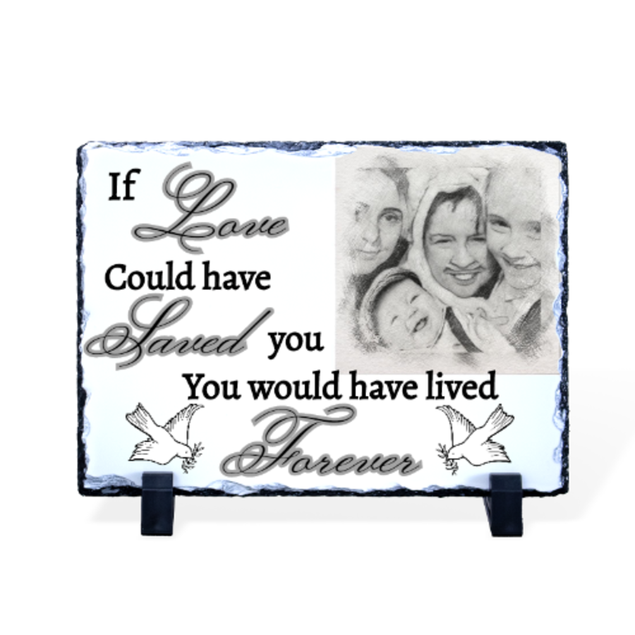 If Love could have saved you photo rock slate various sizes