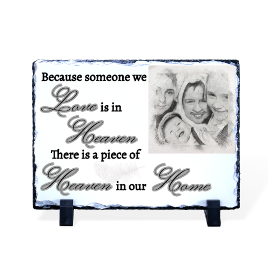 Someone we love in heaven photo rock slate various sizes