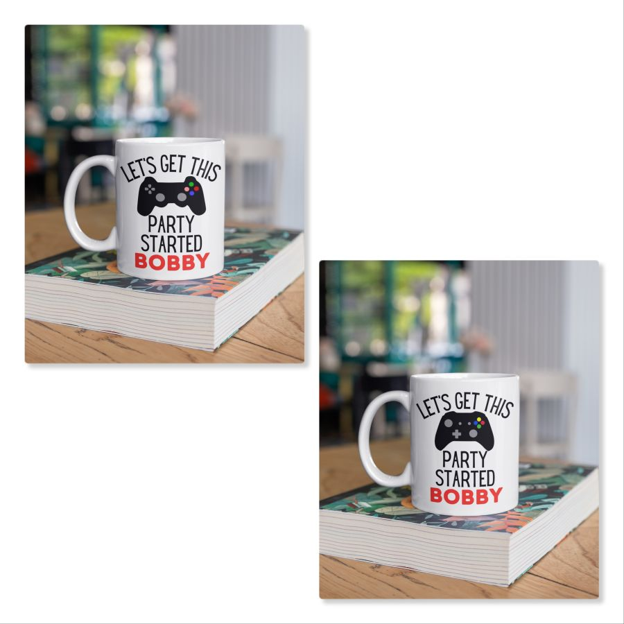 Lets get this party started Gamer personalised mug