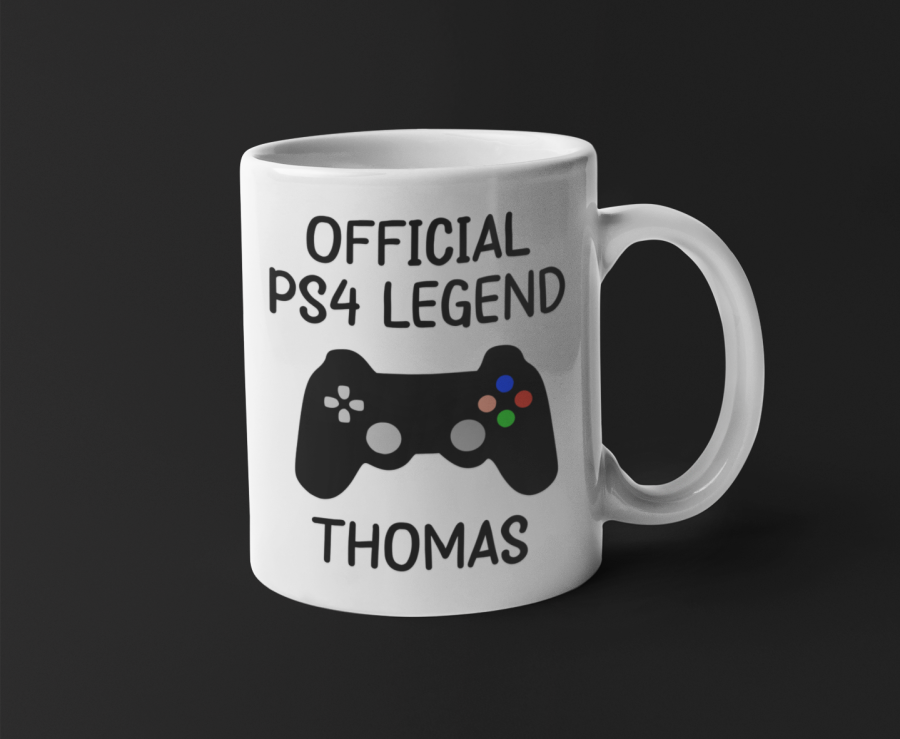 PS4 Playstation 4 legend gamer personalised 11oz mug
