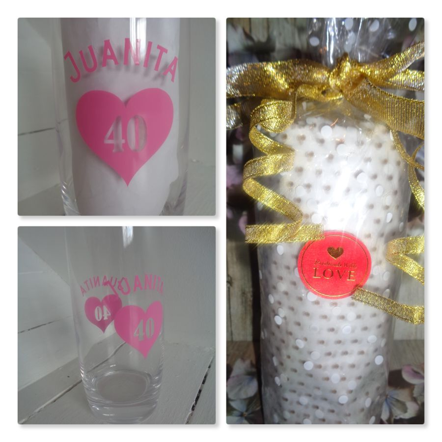 20oz birthday glass choice of colours available