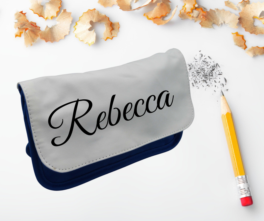 Personalised Large pencil case in Red or Blue