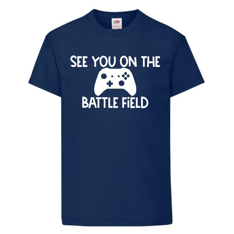 Kids Gamer T-shirt See you on the battlefield
