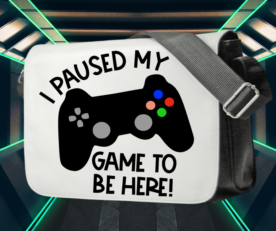 Gamer messenger bag for console - I paused my game to be here