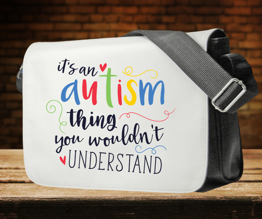 Autism awareness shoulder bag