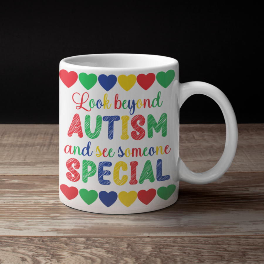 autism mug | autism awareness mug | Look beyond autism | asd mug