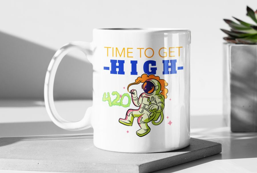 Time to get high weed cannabis coffee mug
