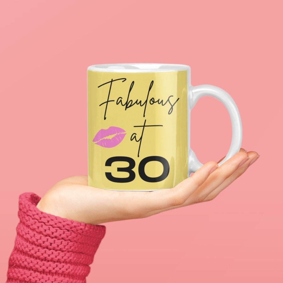 Fabulous at 40 (can do any age) Birthday coffee mug