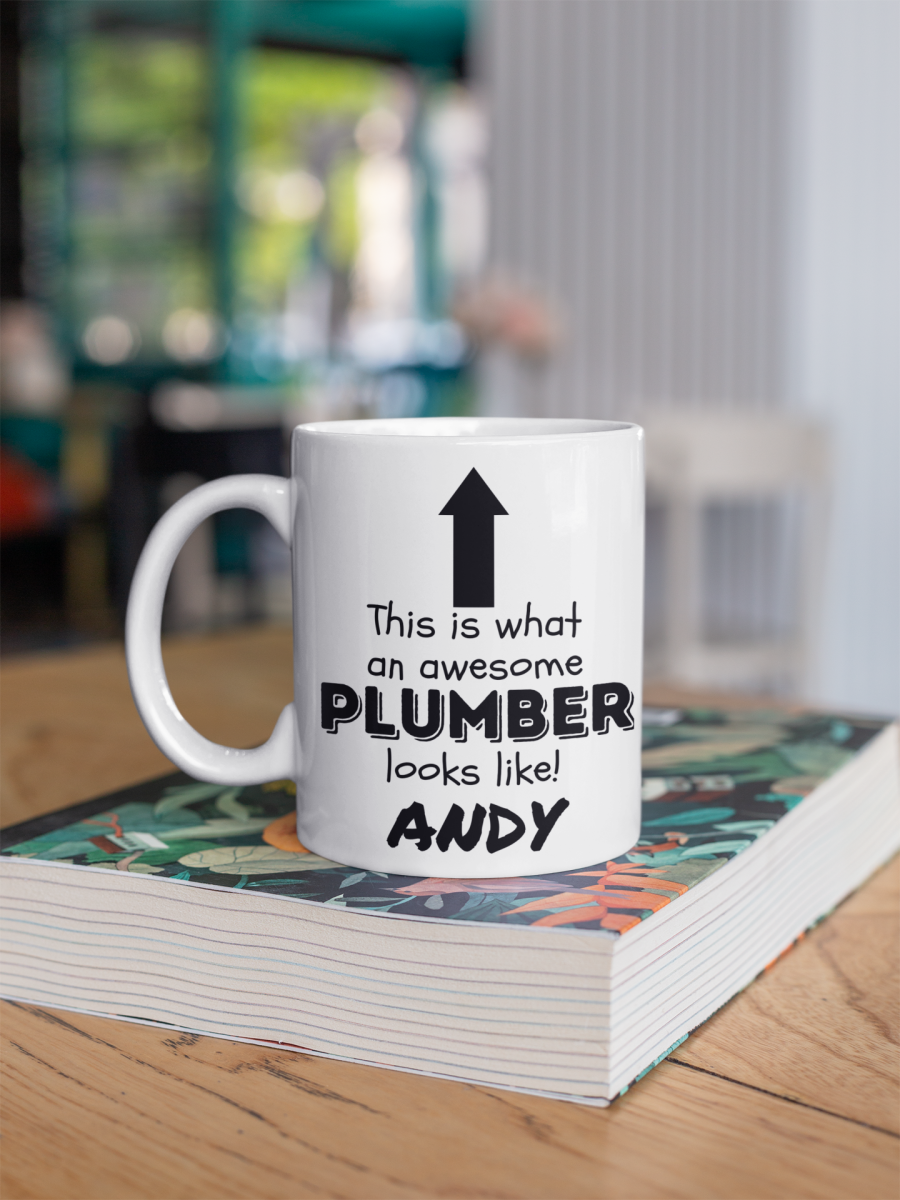 This is what an awesome plumber looks like novelty coffee mug