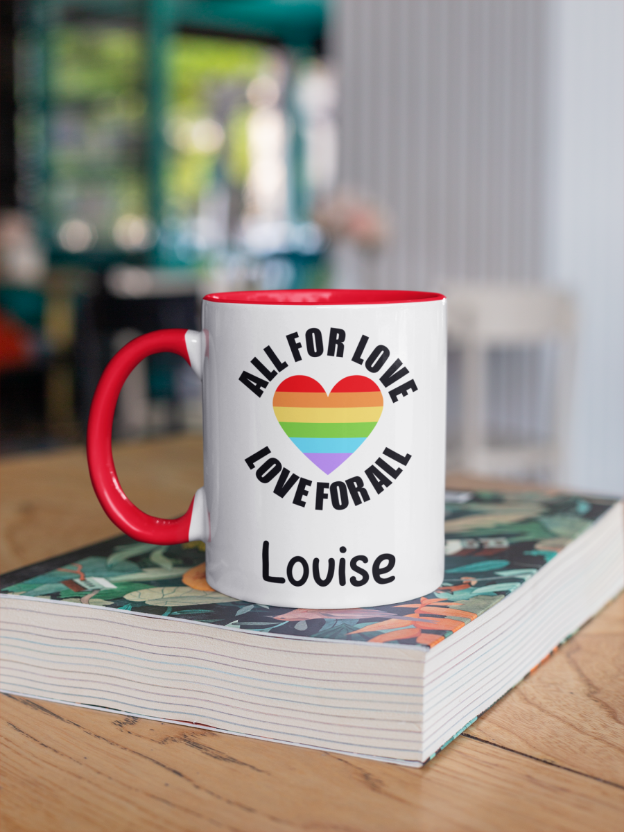 All for Love Love for all lgbt Gay pride coffee mug cup